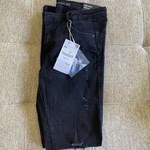 NWT Zara Damaged Skinny Jeans
